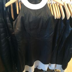 Leather dress, size 6, $75 (was $498)