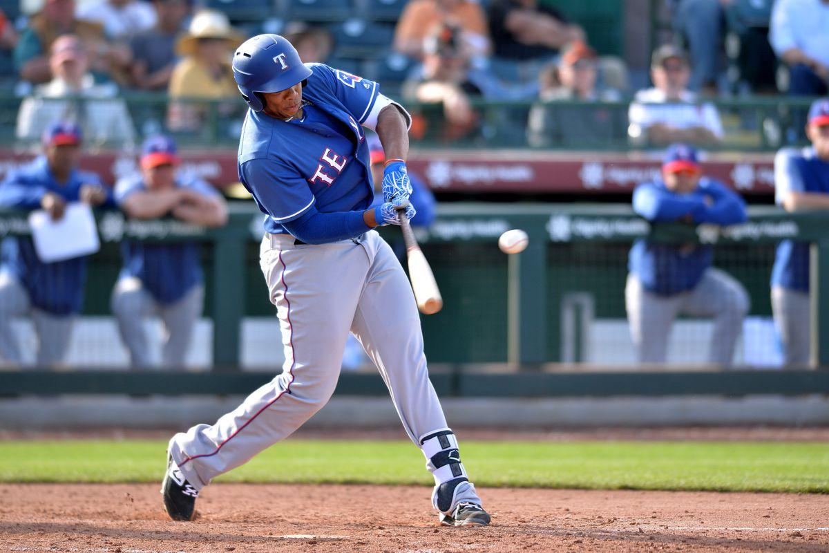 MLB: Spring Training-Texas Rangers at San Francisco Giants