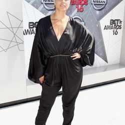 Alicia Keys in a Stella McCartney jumpsuit and Maxior jewelry