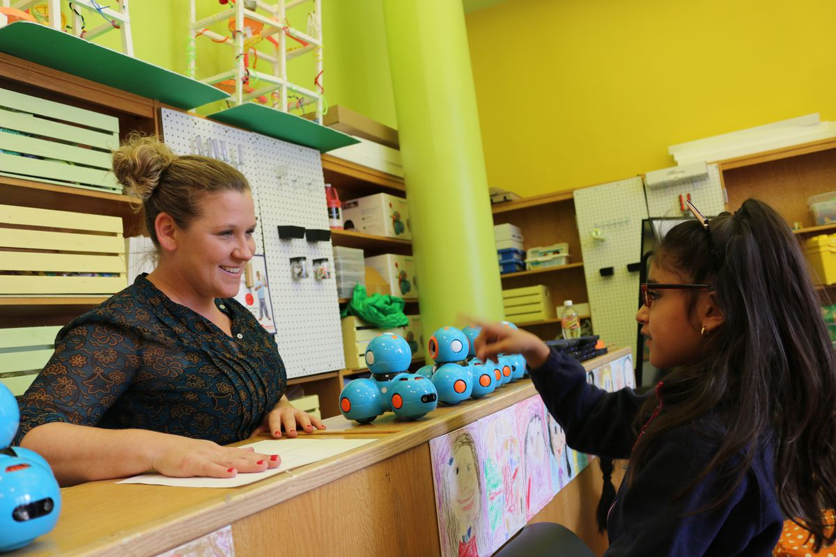 A class at P.S. 15, which the state named as one of its top-performing schools.
