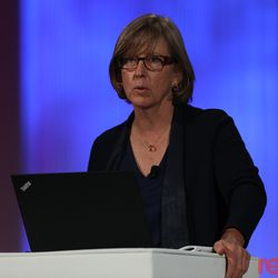 """Kleiner Perkins' Mary Meeker delivered her full 200+ internet trends report to attendees at Code Conferencce 2018. You can watch her full presentation <a href=""""https://www.recode.net/2018/5/30/17411618/full-video-transcript-kleiner-perkins-mary-meeker-trends-presentation-slide-deck-code-2018"""">here</a>."""