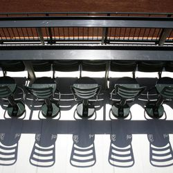 Seats are shown near the outfield at Citi Field Tuesday, April 3, 2012, in New York. In addition to slicing payroll, the New York Mets cut dimensions at Citi Field and showed off their new blue-and-orange fences. The Mets erected a new fence in front of the old wall at the 4-year-old ballpark, lowering the height needed for a home run to 8 feet from as much as 16 and cutting the distance from home plate by up to 12 feet.
