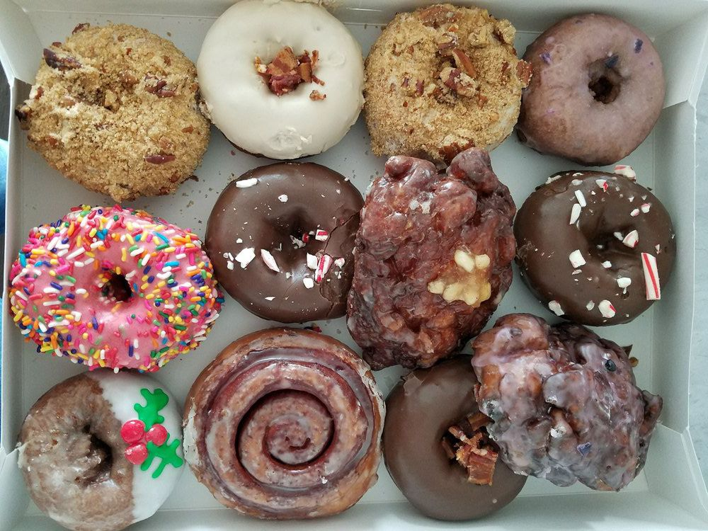 The doughnut array from Bougie's Donuts