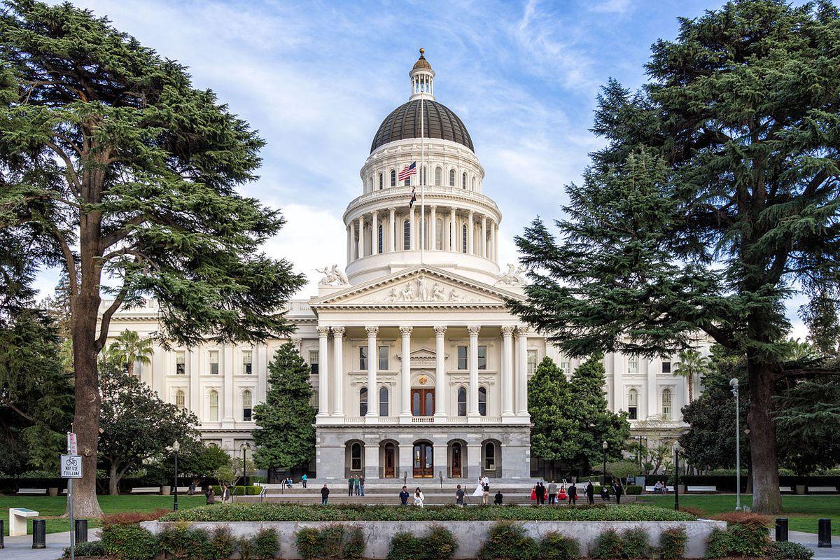 The California capitol building.