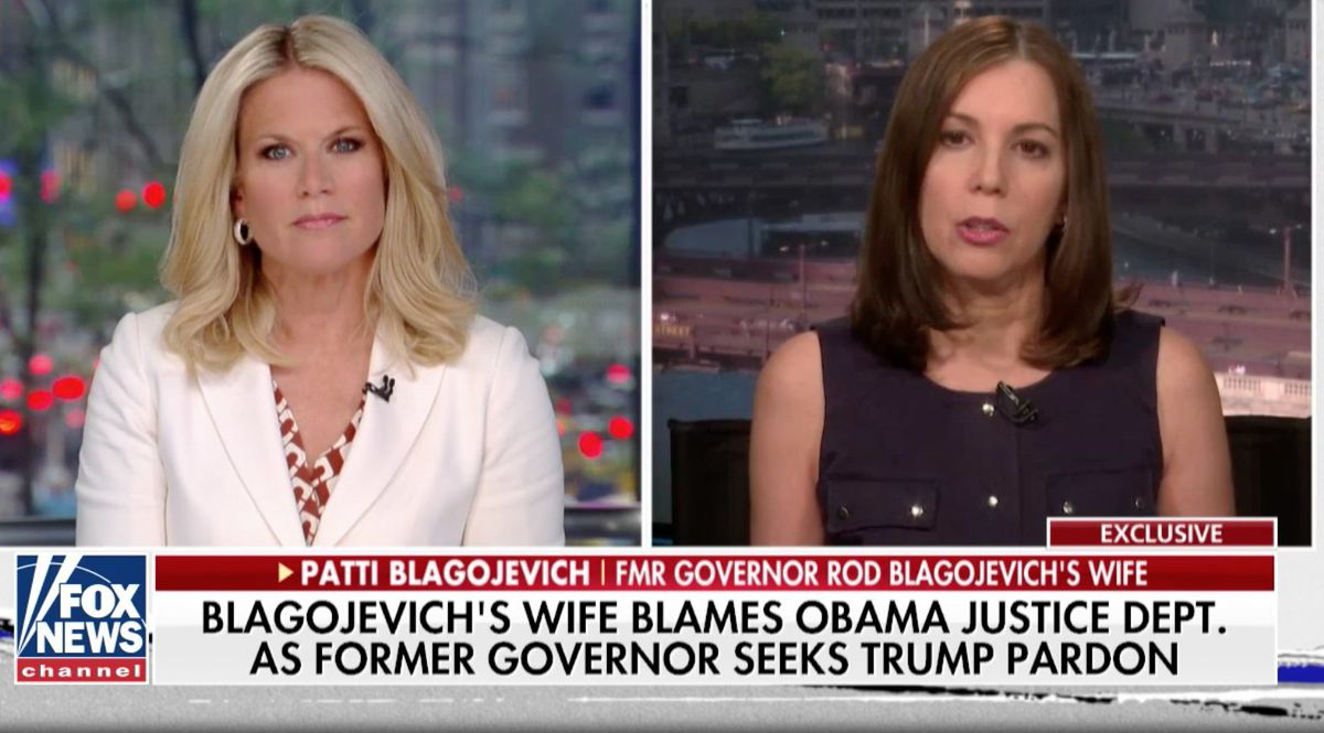 Patti Blagojevich (right) appears on Fox News.