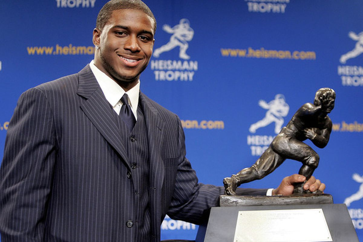 Reggie Bush ruined his NCAA career by attending USC instead of Georgetown.  (Photo by Stephen Chernin/Getty Images)