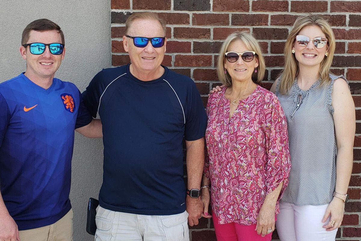 From left, Marc Ayers, Terry Ayers, Candace Ayers and Amanda Ayers in their last family photo together. Candace Ayers died of COVID-19 earlier this month after it is believe she caught the virus while on a trip to Mississippi.