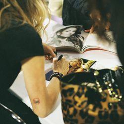 Drea De Matteo, who played Adriana La Cerva on<em>The Sopranos</em>, signs autographs at the second day of SopranosCon