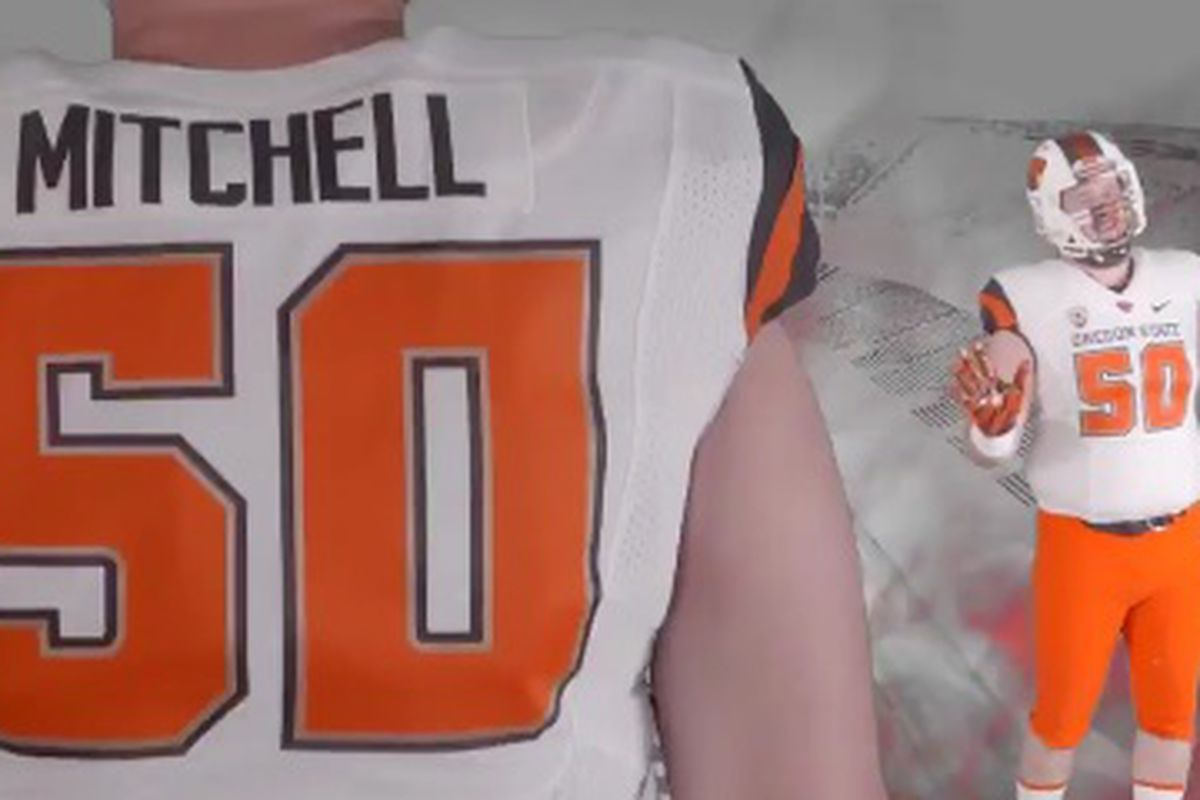 It's Orange and White this week, version 2, for Oregon State.