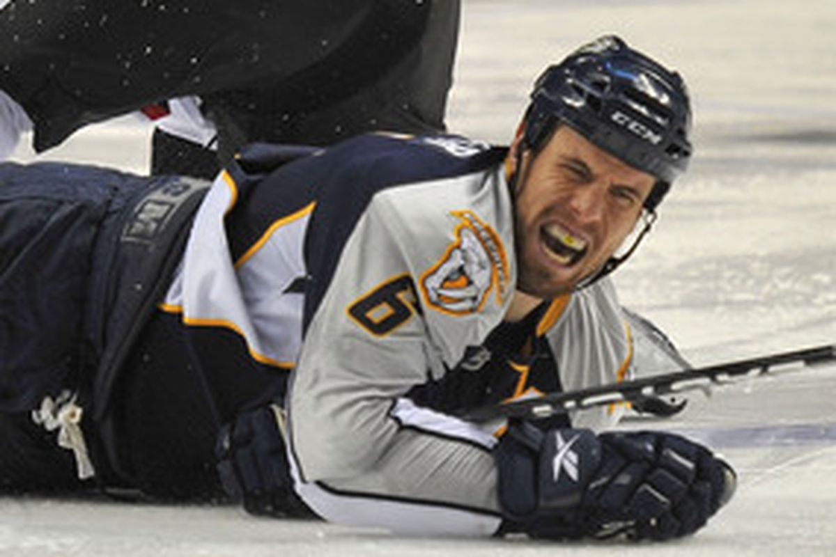 Shea Weber just can't believe what was said about his team. Photo credit