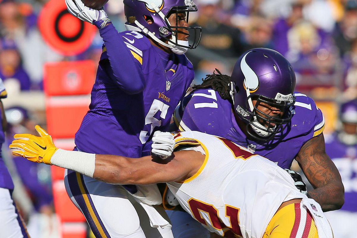 Redskins Keenan Robinson and Vikings Linval Joseph Fined for QB
