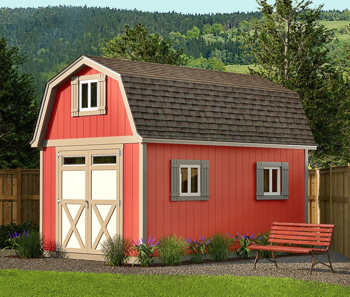 Garden Shed With Gambrel Roof