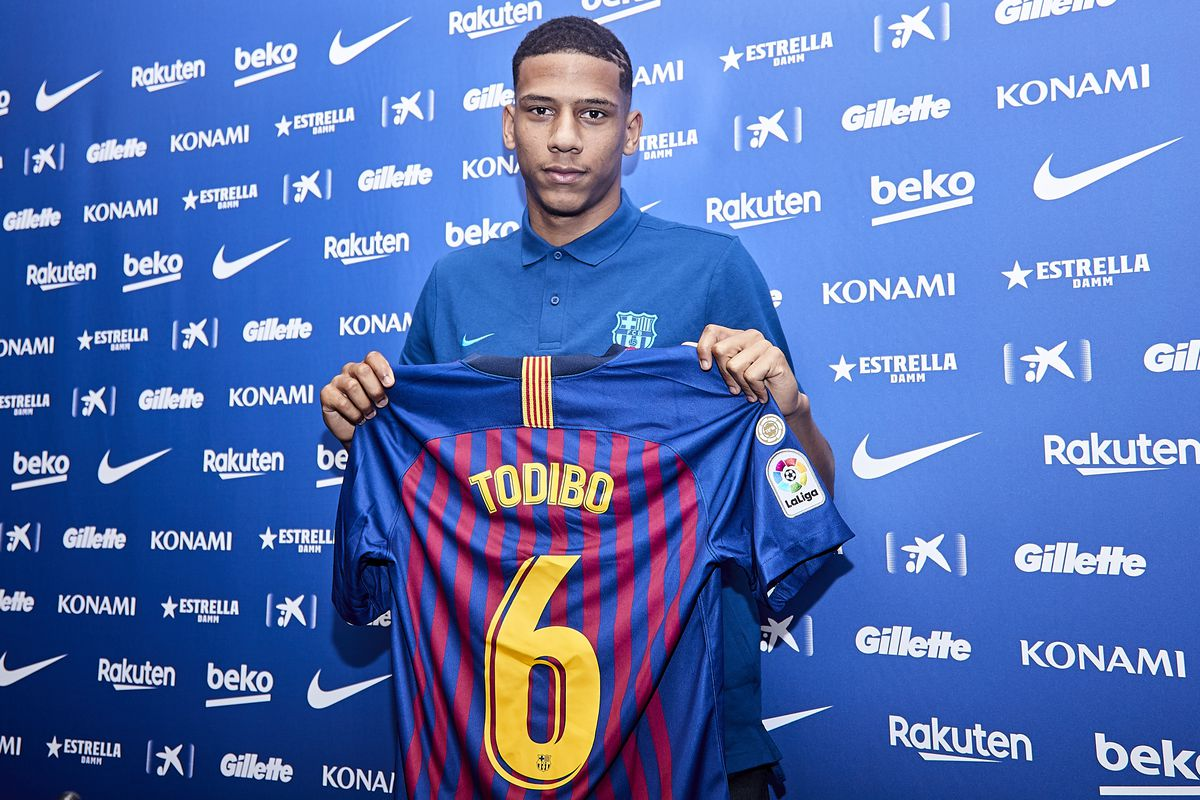 FC Barcelona Unveil New Signing Jean-Clair Todibo