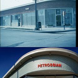 Petrossian on Robertson, then and now. The space used to be home furniture retailer Thonet. <i>[Photo courtesy Ronald S. Kates]</i>