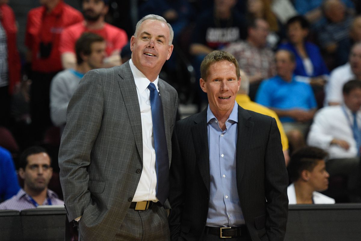 BYU head coach Dave Rose (left) and Gonzaga head coach Mark Few should be all smiles after learning what their peers think of their teams heading into this season.