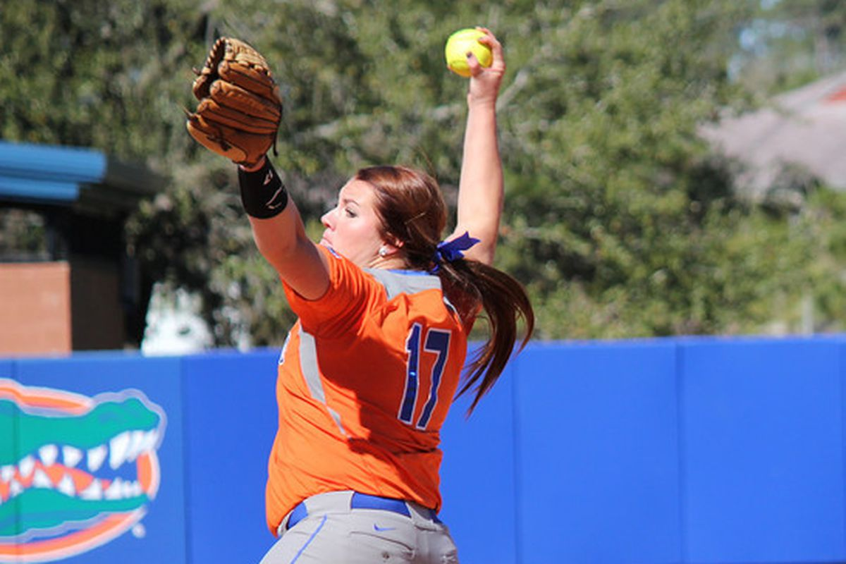 Florida ace Lauren Haegar could be a challenge for the Tide in this weekend's pivotal SEC series.