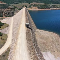 Jordanelle Dam is pictured Friday, July 16, 2021.  The water level in the reservoir is low due to drought.