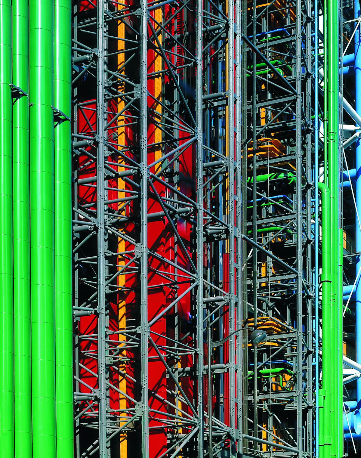 Centre Pompidou A Monument To Modernity 8 Things You Didnt Know House Wiring Diagram France Facade Of The Building On Rue Du Renard