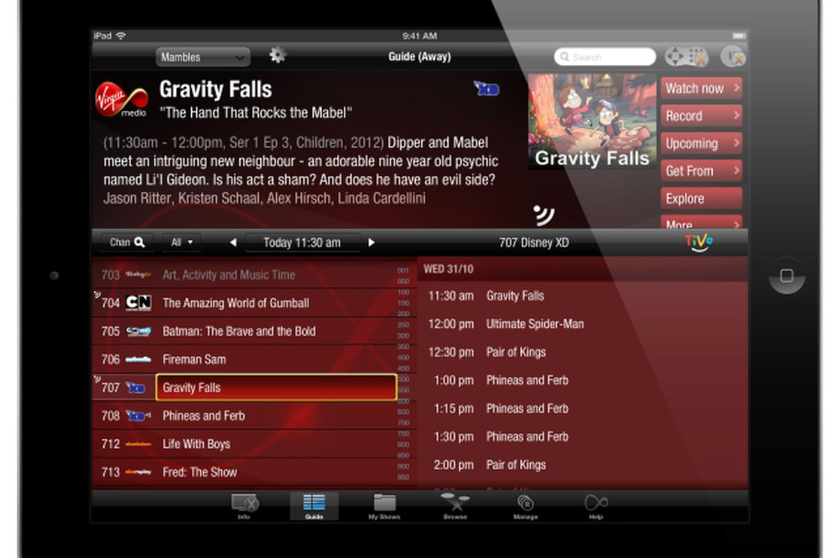 Virgin TV Anywhere on iPad