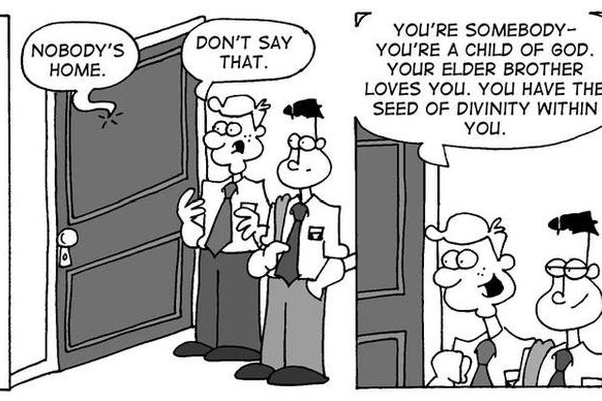 Elder Green learns that sometimes the meaning of a message is garbled through a door.