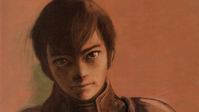 Concept art of Edge, the protagonist of <em>Panzer Dragoon Saga</em>.