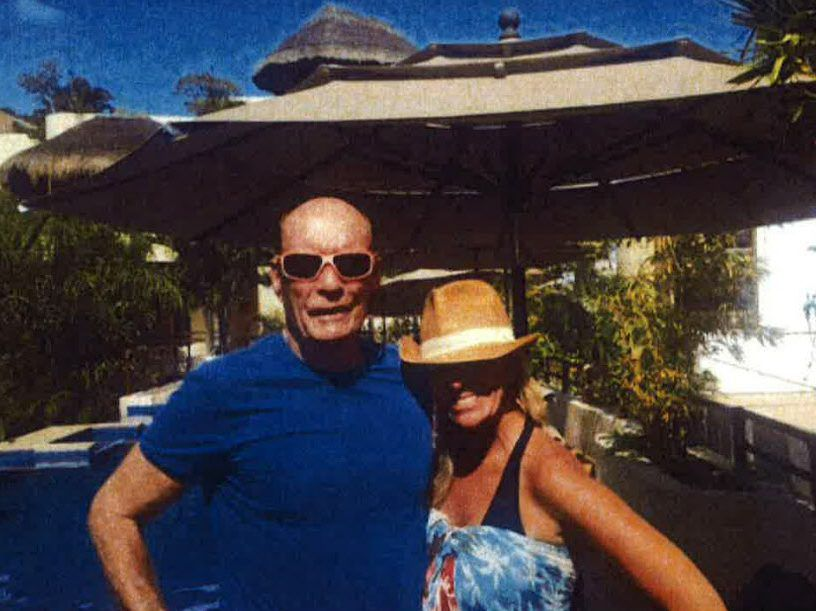 Former Chicago Board of Trade Chairman Patrick Arbor posed for this photo with friend Giselle Coates in Playa del Carmen, Mexico in 2017. | Sun-Times File Photo.