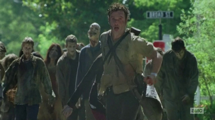 Rick goes for a run on The Walking Dead