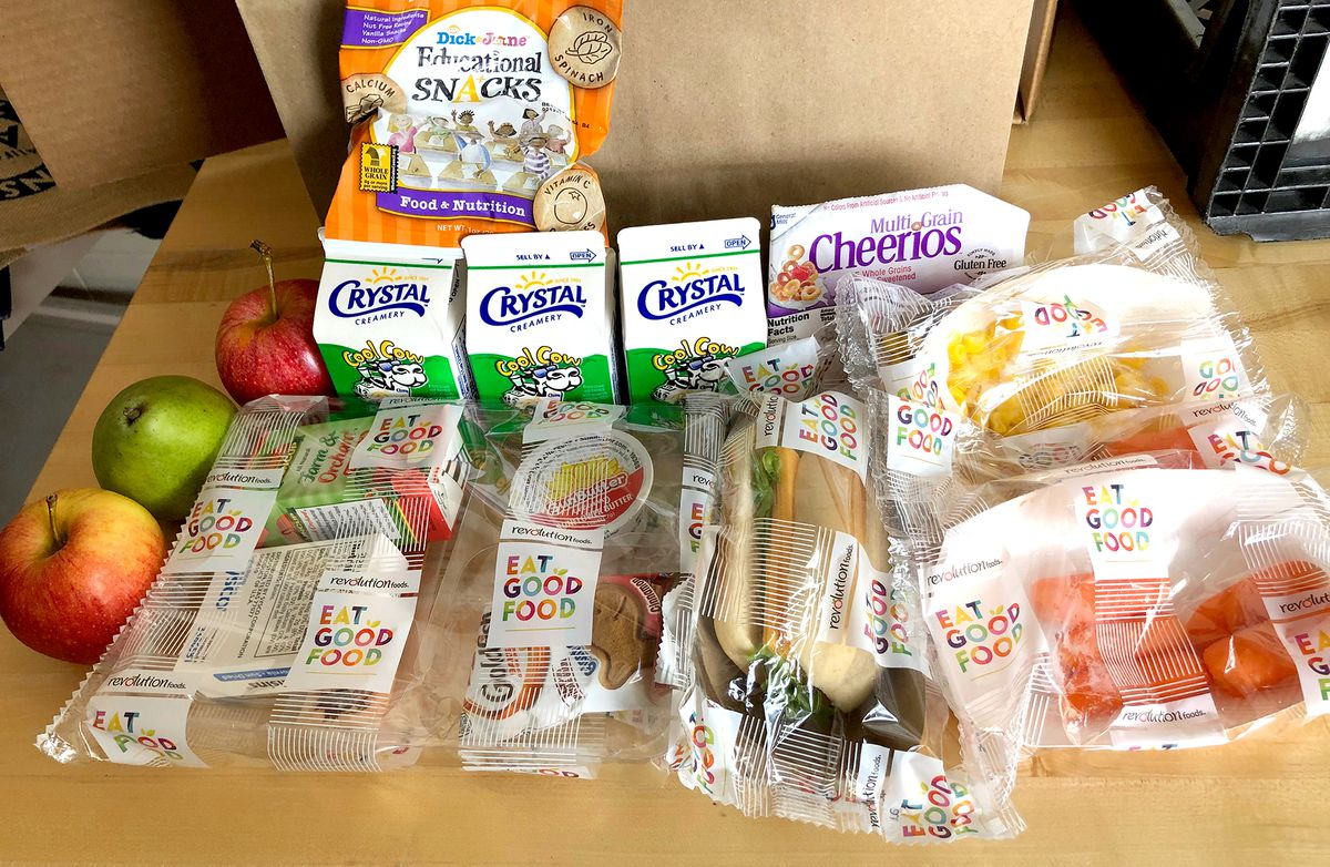The contents of SFUSD's bagged meals for children in San Francisco