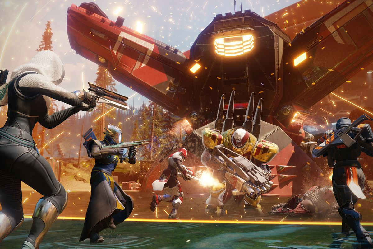 Destiny 2 - Injection Rig Public Event: four Guardians taking on the Infiltrator Valus
