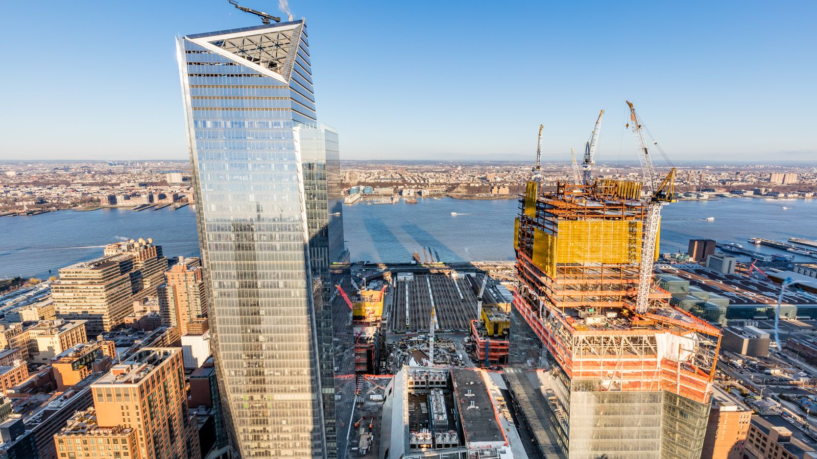 hudson yards construction update a status check on the manhattan megaproject curbed ny. Black Bedroom Furniture Sets. Home Design Ideas