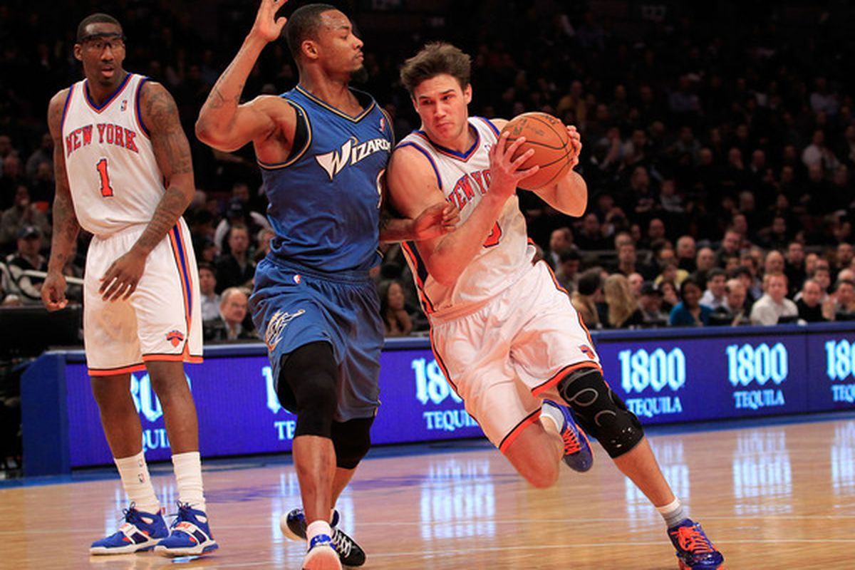 Danilo Gallinari as a member of the New York Knicks. (Photo by Chris Trotman/Getty Images)
