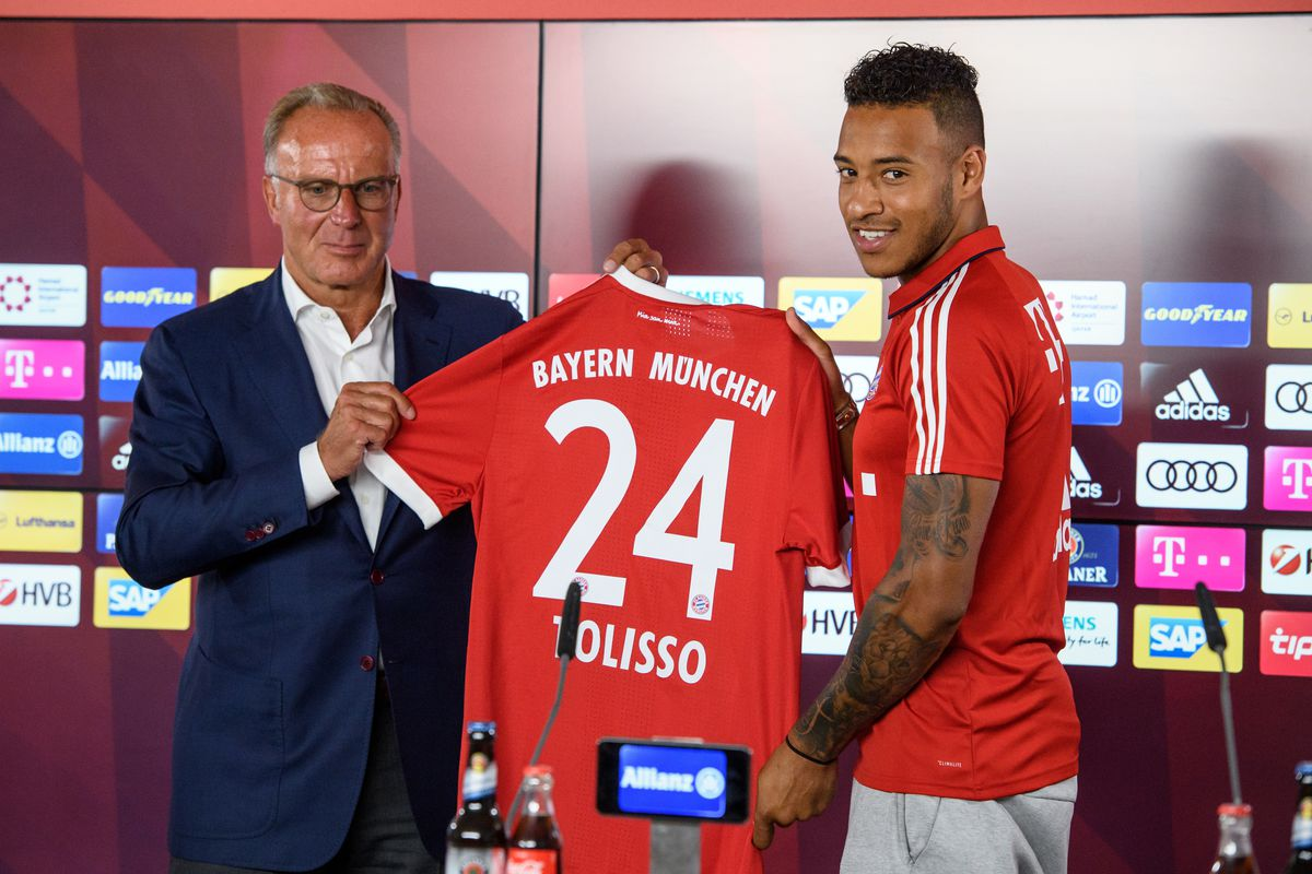 Introduction of Bayern's new player Tolisso