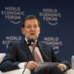 Spain's Prime Minister Mariano Rajoy speaks at the opening ceremony of the World Economic Forum (WEF) Latin America in Puerto Vallarta, Mexico, Tuesday April 17, 2012.  Rajoy said Tuesday that Argentina's nationalization of its Spanish-controlled leading energy company is unjustifiable and he'll work to halt the takeover.