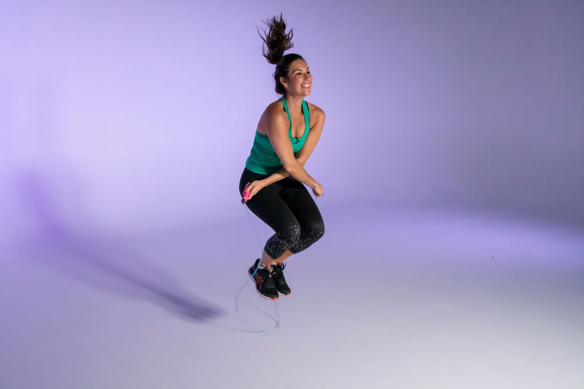 Jumping rope is a great workout