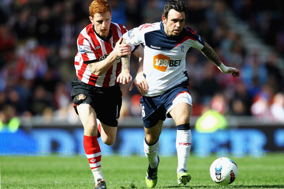 Look at him, he's already trying to escape Sunderland's grasp.