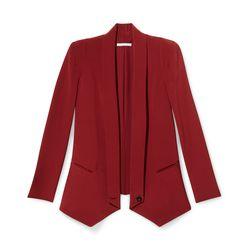 Long Becky jacket in wine, originally $378