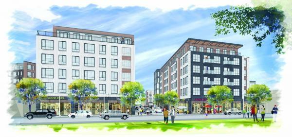 A rendering of Dot Block in Boston.