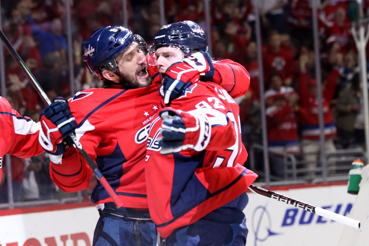 2c46efbbe7c Alex Ovechkin and Evgeny Kuznetsov are pushing each other (and the  Capitals) toward a Stanley Cup