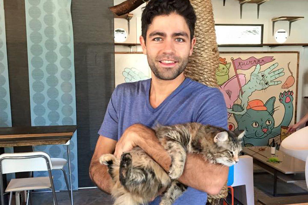 Adrian Grenier Visits Blue Cat Cafe