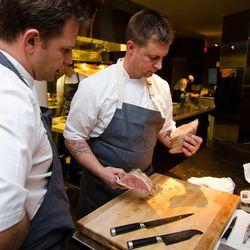 Chef de cuisine Matt Hill and Voltaggio.