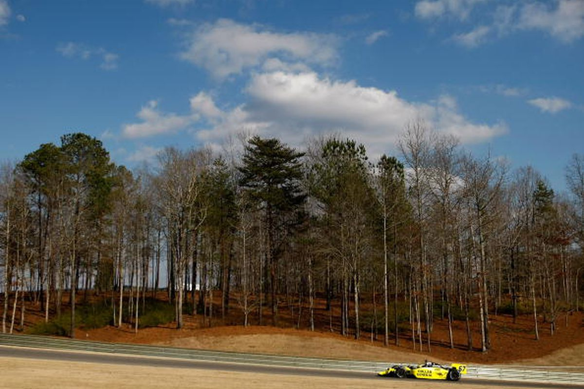 Sarah Fisher drives her #67 Dollar General Sarah Fisher Racing Honda Dallara during the IRL Indy Car Series Spring Testing at Barber Motorsports Park on February 23, 2009 in Leeds, Alabama. (Photo by Jonathan Ferrey/Getty Images)