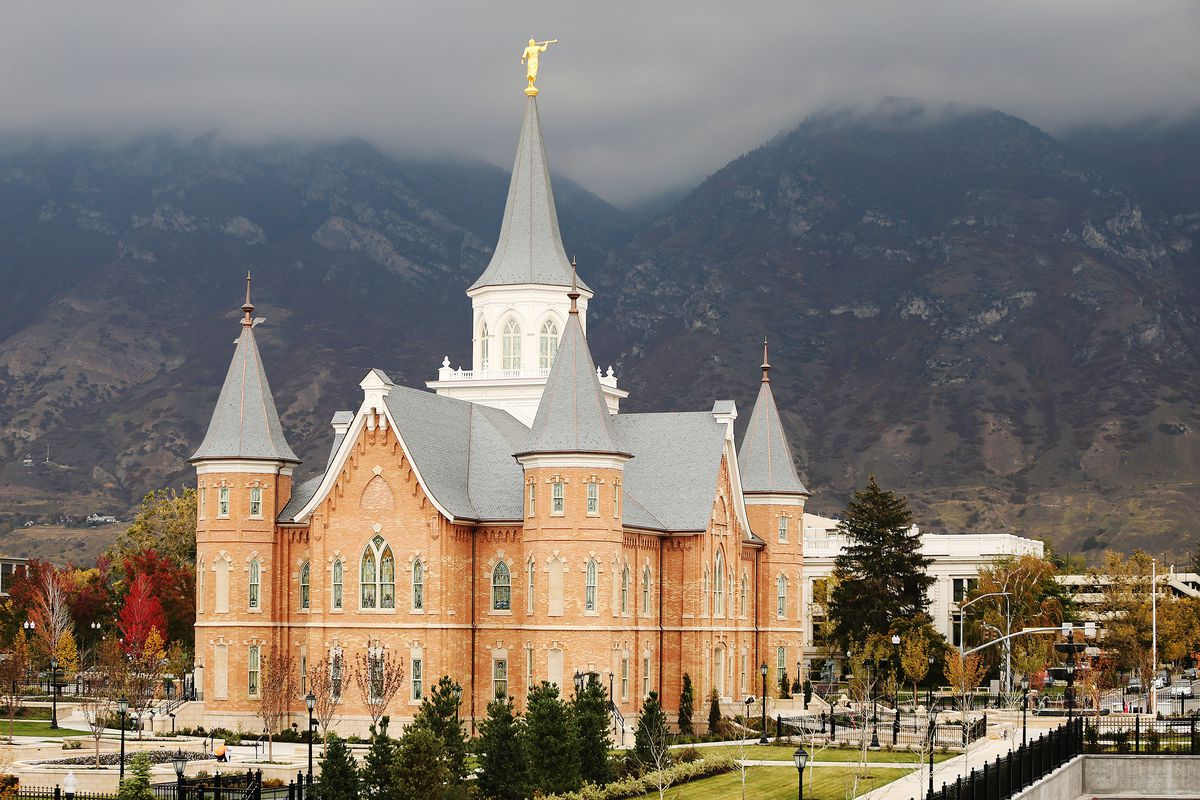 The Provo City Center Temple on Thursday, Oct. 29, 2015, as it neared completion. The temple opened in March 2016, but has been closed since March 25, 2020, due to the COVID-19 pandemic.