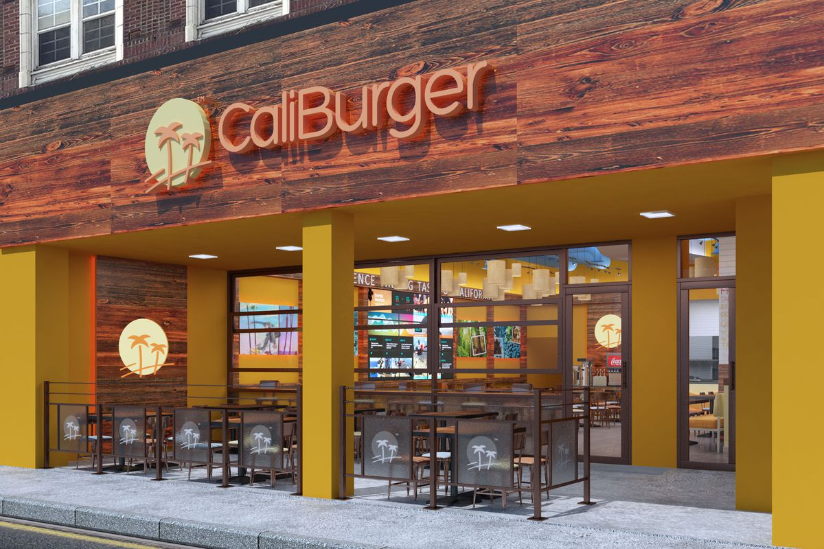 A rendering of the new CaliBurger coming to 4509 University Way late summer.