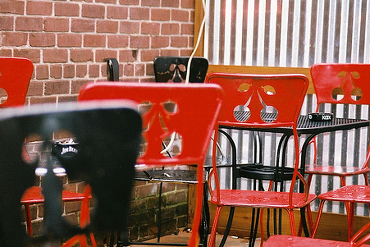 "The patio at Java Lords. Photo courtesy of <a href=""http://www.flickr.com/photos/carringtonatl/6635754997/sizes/m/in/pool-836277@N21/"">CarringtonATL/Flickr</a>."