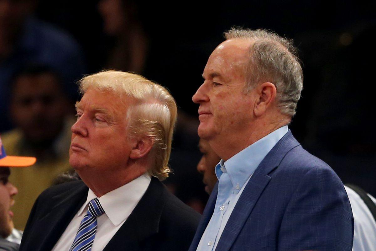 President Donald Trump and Fox News anchor Bill O'Reilly.