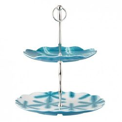 Two-Tier Tray in Turquoise or Coral $19.99 each