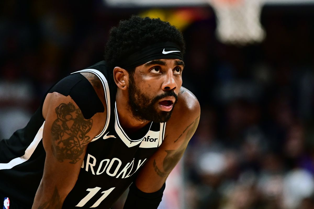 Brooklyn Nets guard Kyrie Irving during the second half against the Denver Nuggets at the Pepsi Center.
