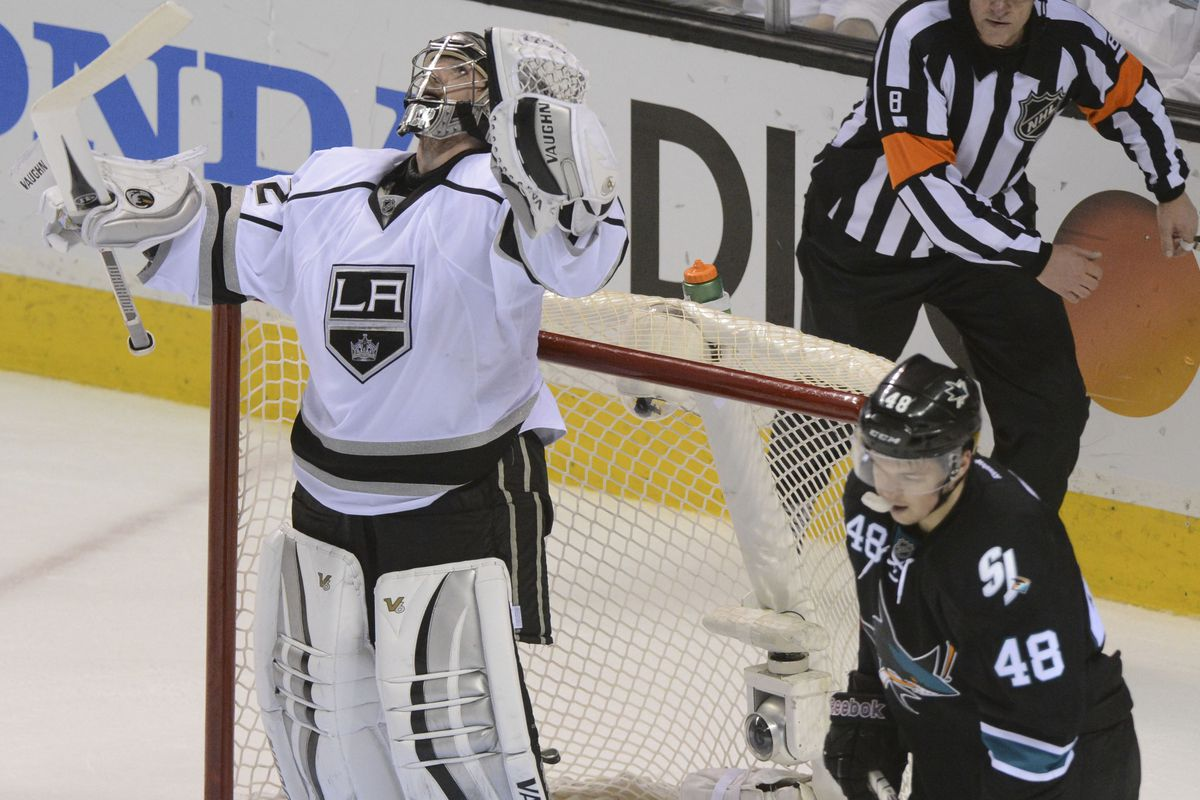 The reactions of Jonathan Quick and Tomas Hertl tell the story.