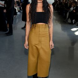 2/18: At the Calvin Klein show. Photo: Michael Loccisano/Getty Images