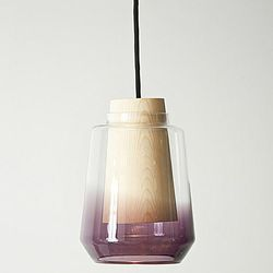 """<a href=""""http://marianneandersen.com/""""target=""""_blank"""">Marianne Andersen</a>'s In Theory Lamp handmade glass and wood lamps glow in a variety of hand-blown colors. [Photo via <a href=""""http://insidenorway.tumblr.com/designers""""target=""""_blank"""">Inside Norway</"""
